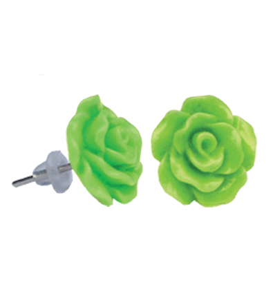 Cercei copii trandafir verde