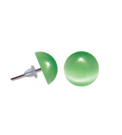 Cercei perla verde