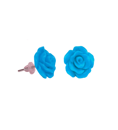 Cercei copii trandafir albastru