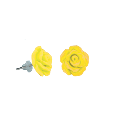 Cercei copii trandafir galben