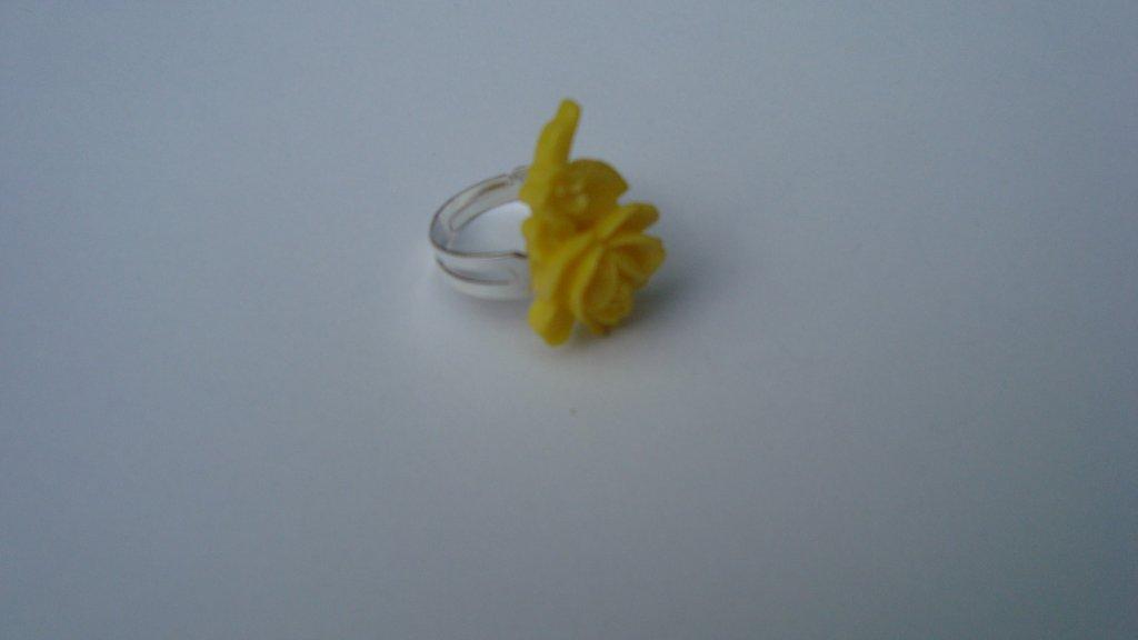 Inel reglabil floare galben