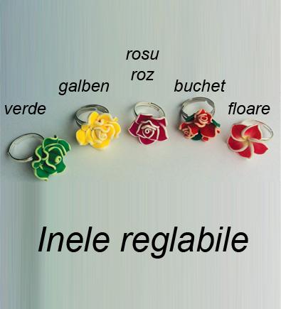 Inel reglabil trandafir verde