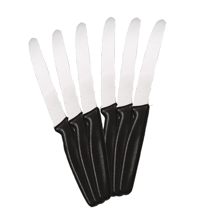 Set 6 Cutite maner negru plastic