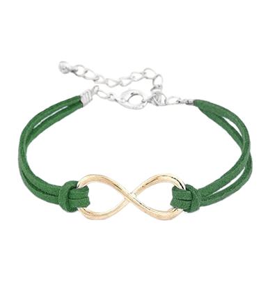 Bratara Infinity verde inchis