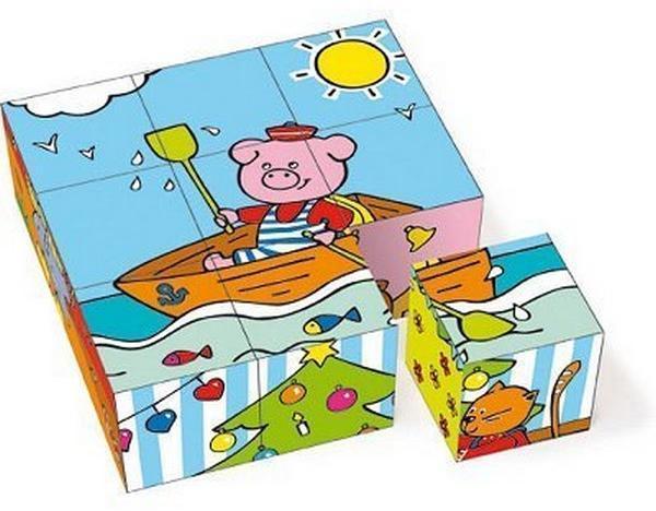 Cuburi lemn 6 desene