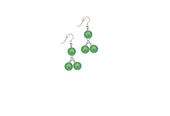 Cercei perle verde