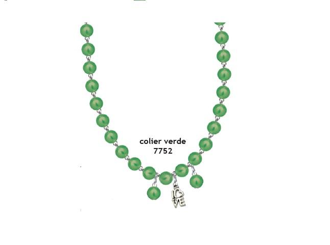 Colier perle verde