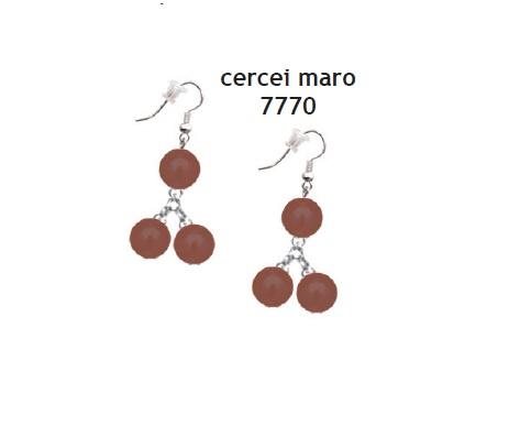 Cercei perle maro