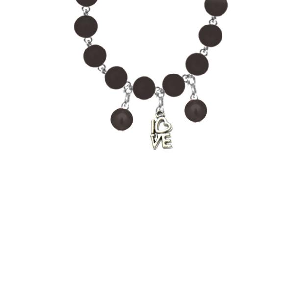 Bratara perle negru