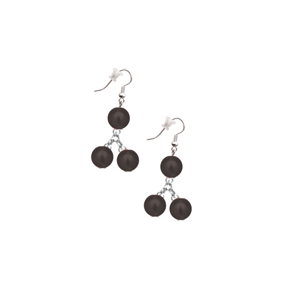 Cercei perle negru