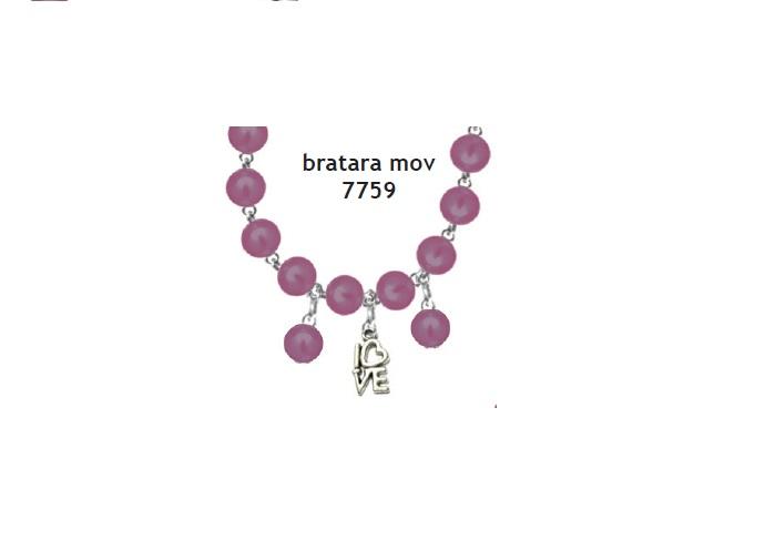 Bratara perle mov