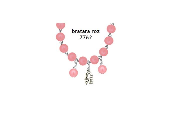 Bratara perle roz