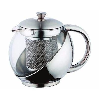 Ceainic din sticla inox