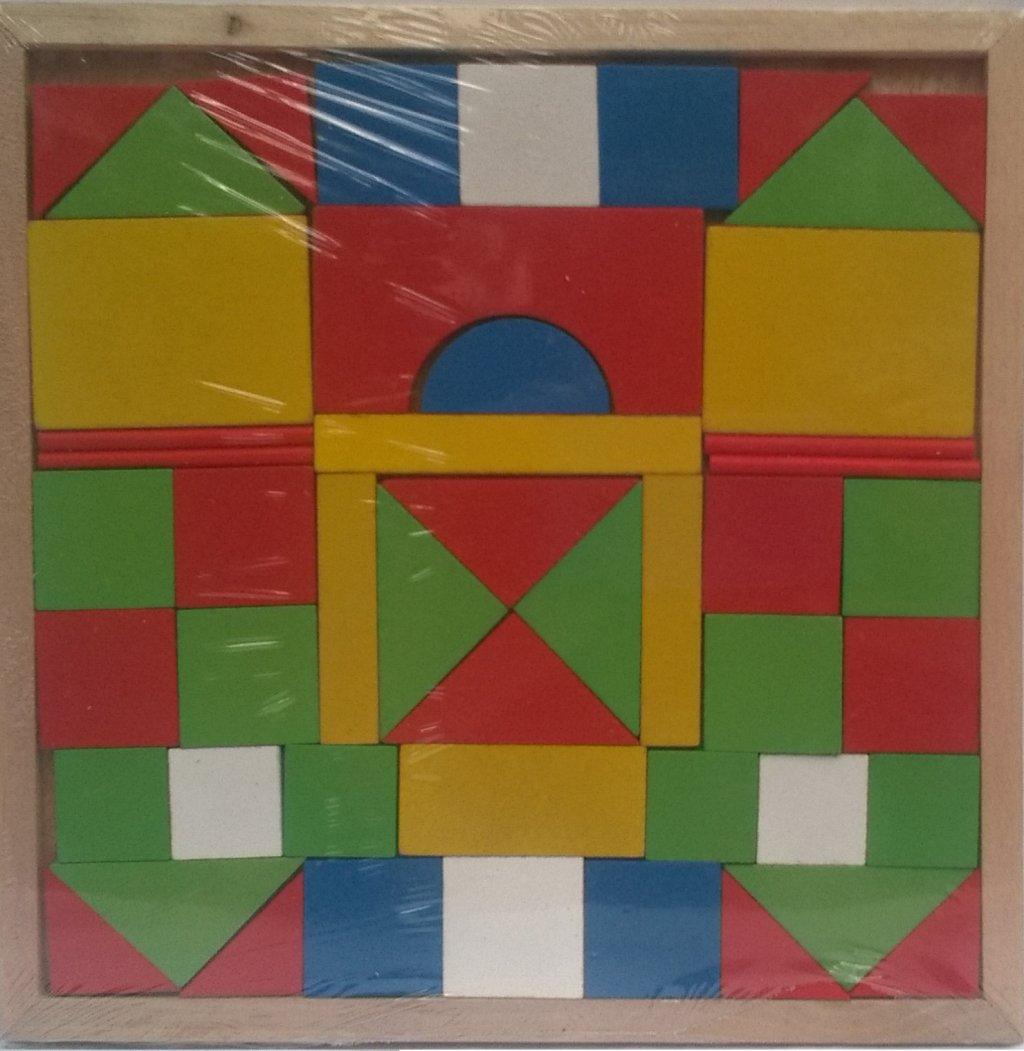 Joc lemn geometric