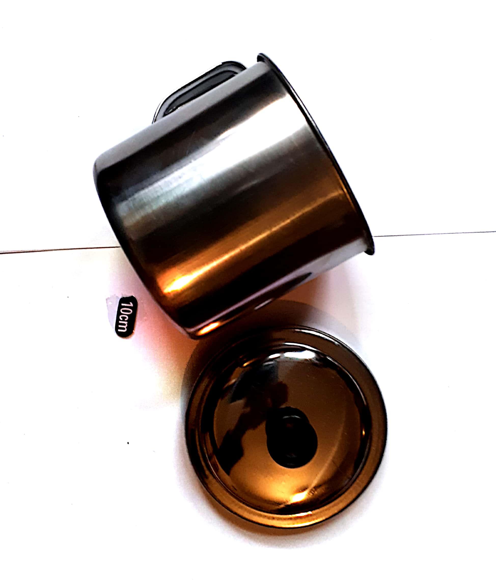 Cana metal 10 cm cu capac