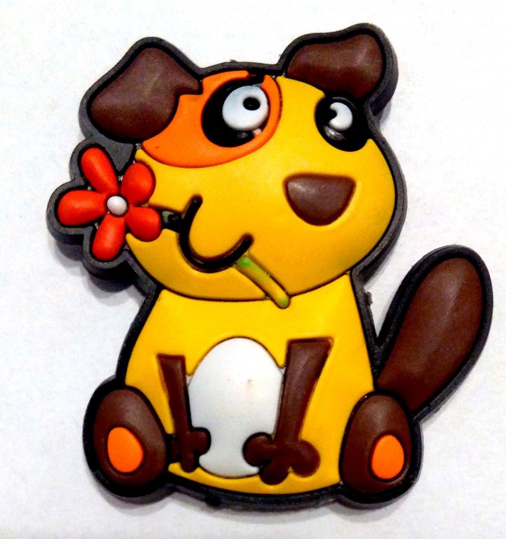 Magnet de frigider catel cu flori