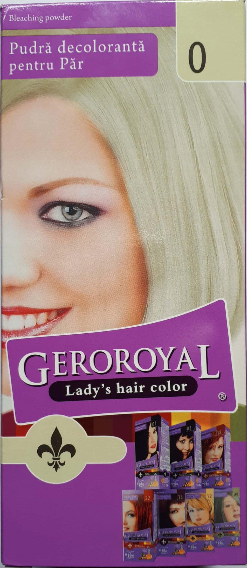 Pudra decoloranta pentru par Geroroyal