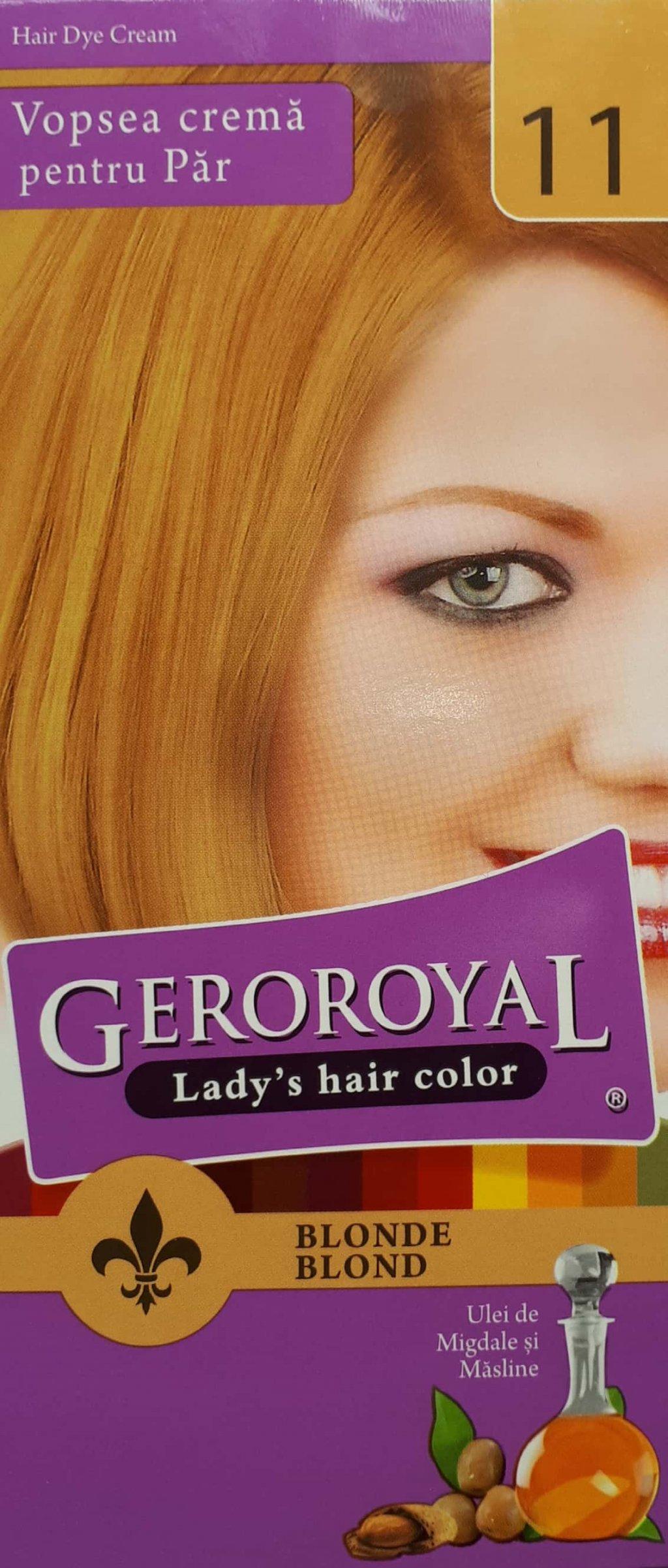 Vopsea crema pentru par Geroroyal Blond 11