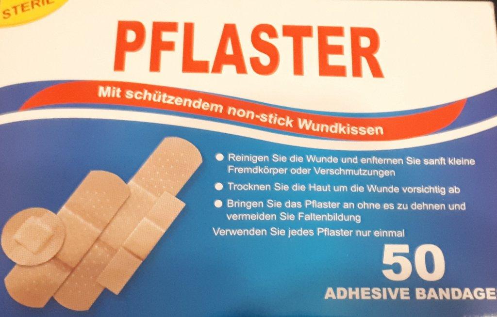 Plasturi 4 tipuri pentru rani 50 buc.