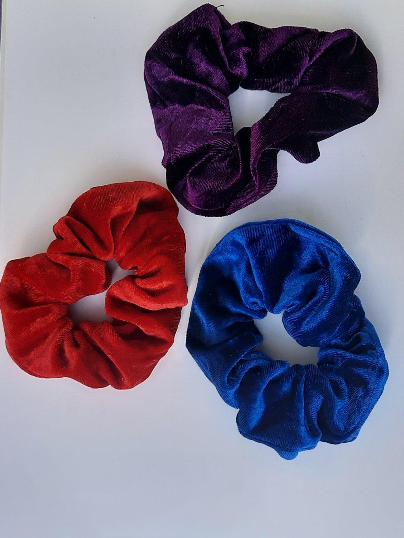 Set 3 elastice color pentru par
