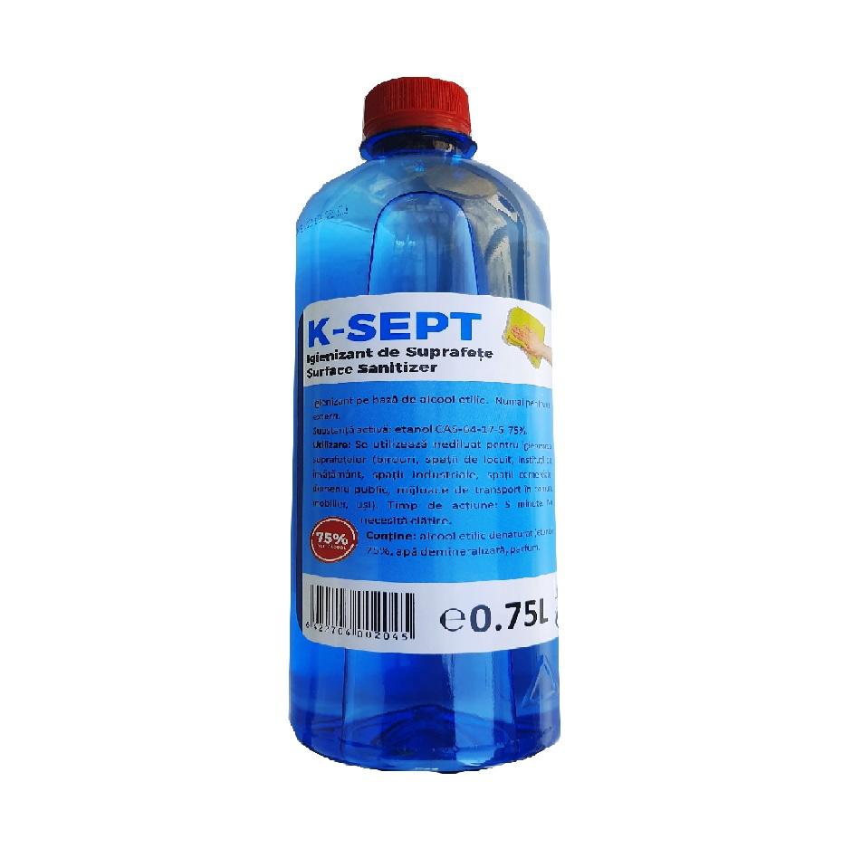 Igienizant suprafete pe baza de alcool 75%