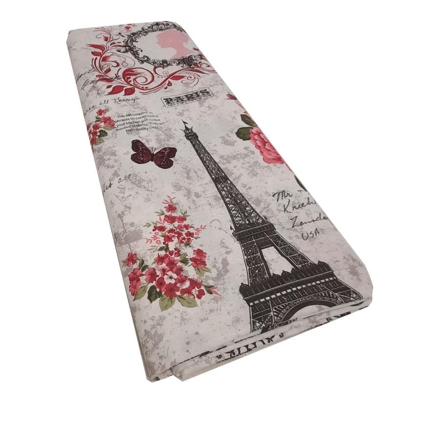Cearsaf pat, 180X210 cm, Paris Roz, doua persoane