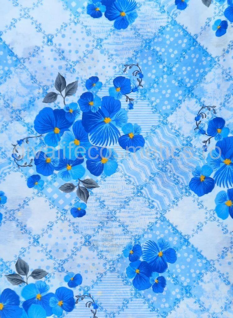 Cearsaf Pat 160x210 cm Panseluta Albastra