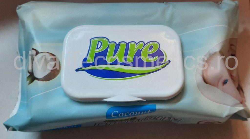 Servetele umede pentru copii Pure Cocos 64 buc.