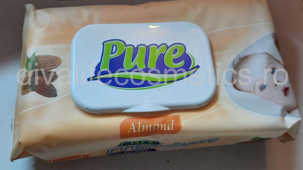 Servetele umede pentru copii Pure Migdale 64 buc
