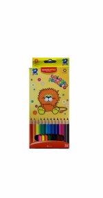 Set 12 Creioane colorate lungi  - 1