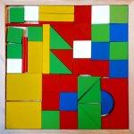 Joc lemn geometric - 1