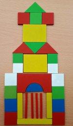 Joc lemn geometric - 2