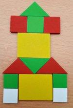 Joc lemn geometric - 3