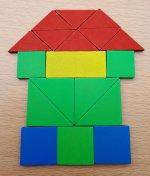 Joc lemn geometric - 4
