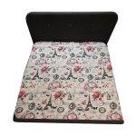 Cearsaf pat, 180X210 cm, Paris Roz, doua persoane - 2