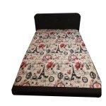 Cearsaf pat, 180X210 cm, Paris Roz, doua persoane - 3