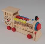 Numarator Lemn Forma Tren 19x11cm - 1